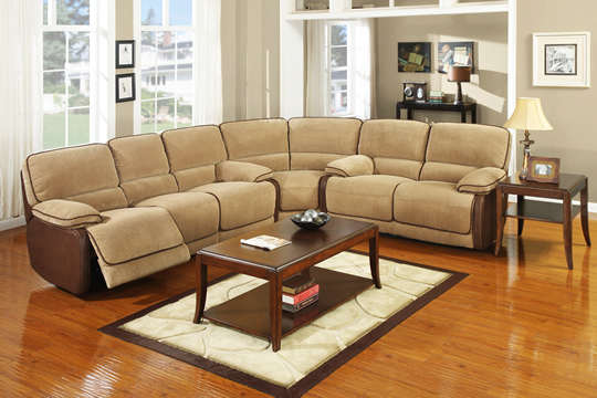Corduroy Recliner Sectional