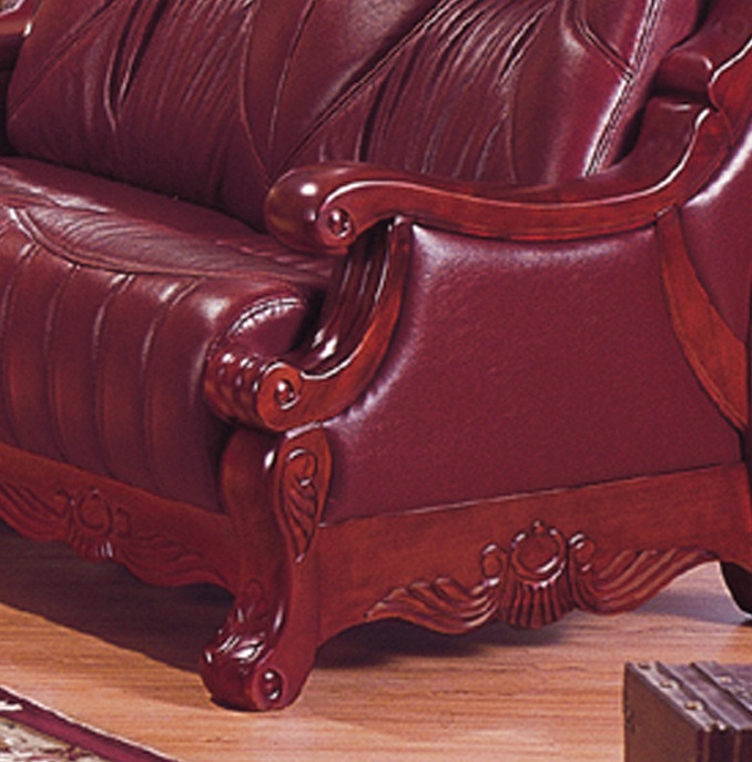 Chestnut Sofa Close View