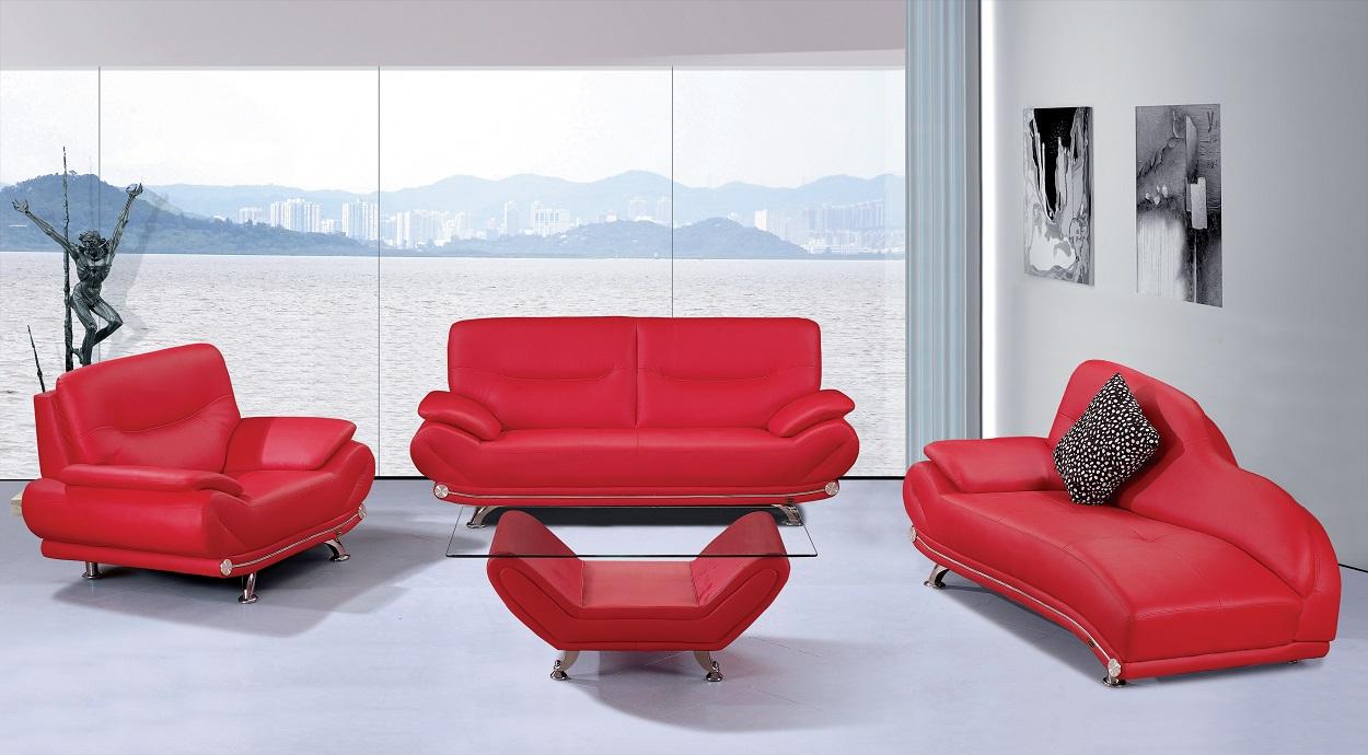 Lindsay Red Sofa