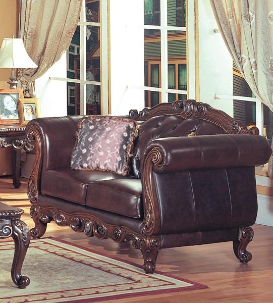 Panama Leather Love Seat