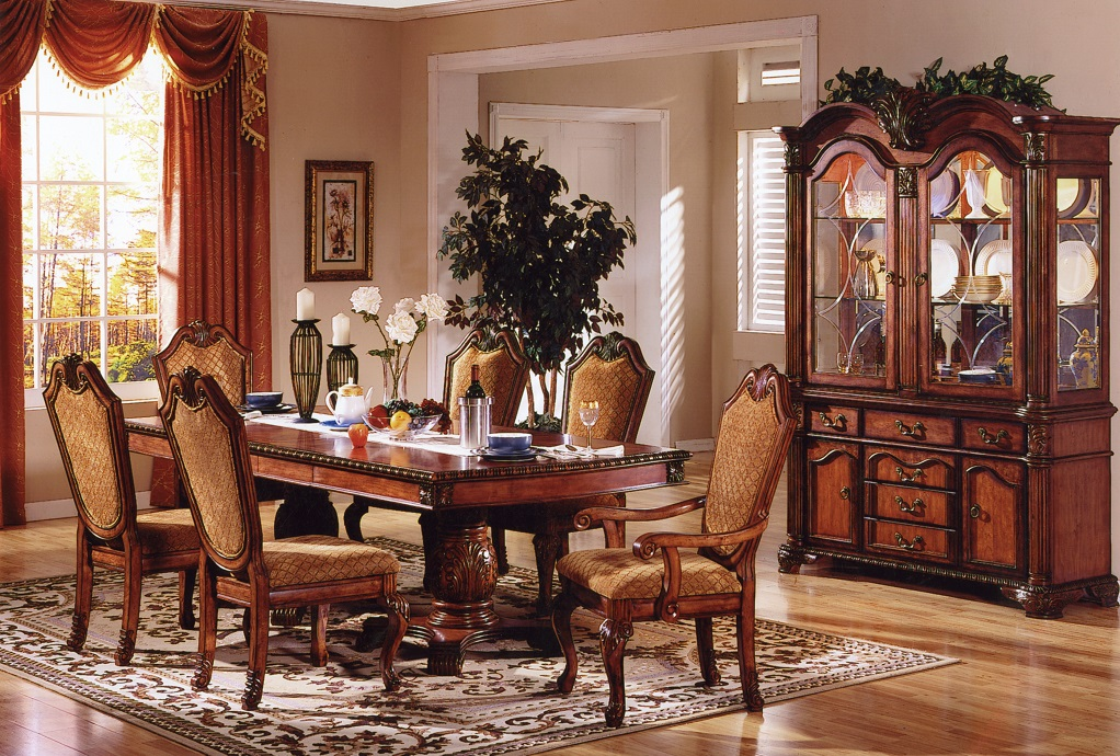Ruby Fabric Dining Room