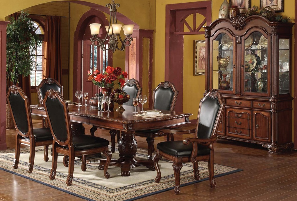 Ruby Leather Dining Room
