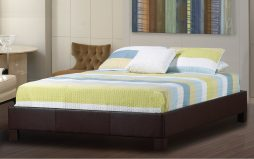 Upholstered Leather Platform Beds