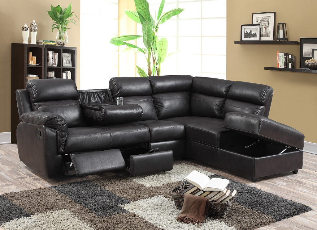 KW-R1818 Recliner Leather Sectional