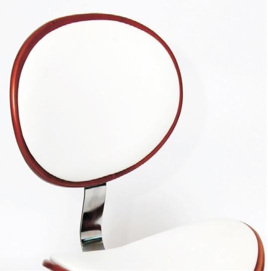 MDS51_018 White Barstool