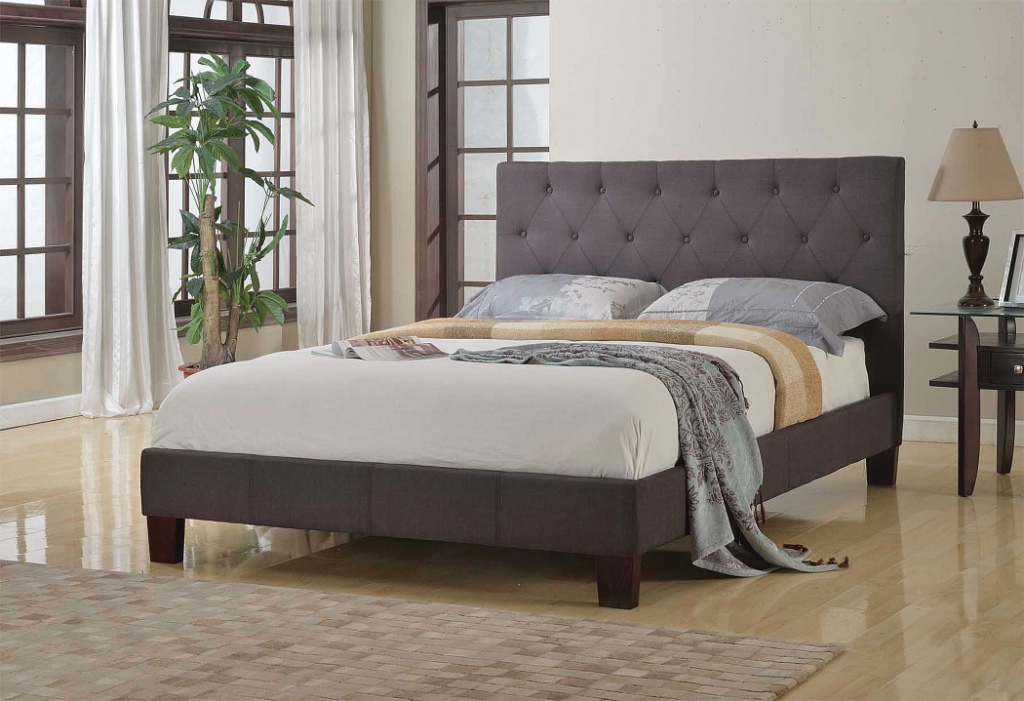 BRSX-JX366 Upholstered Bed Grey