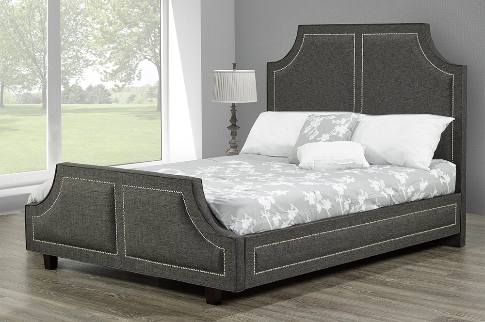R185 Upholstered Bed