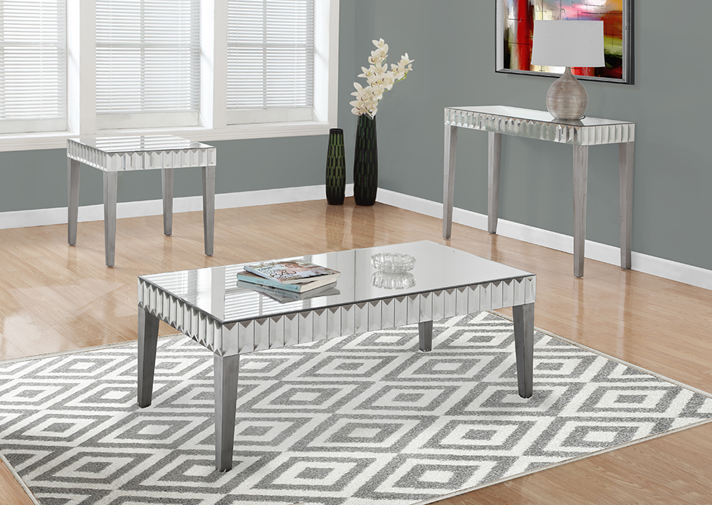 I-3720 Mirrored Coffee Table