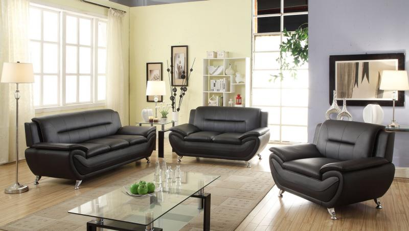 MEG-3350 Leather Sofa Set