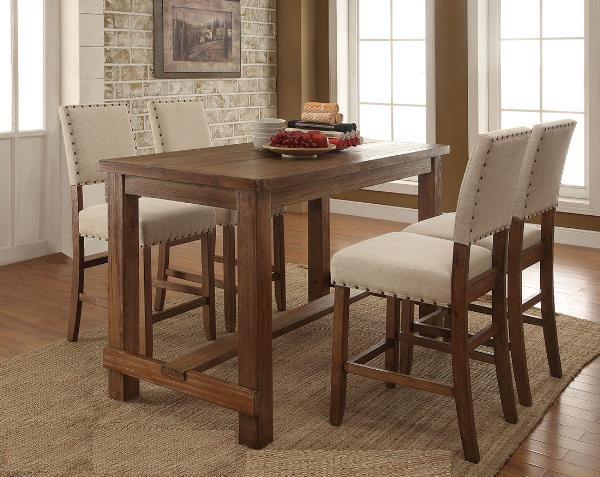 DININGTABLE-MAZ-5094-36 5pc counter-height