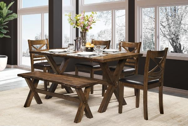 DININGTABLE-MAZ-5000 6pc-BENCH-CLEVELAND