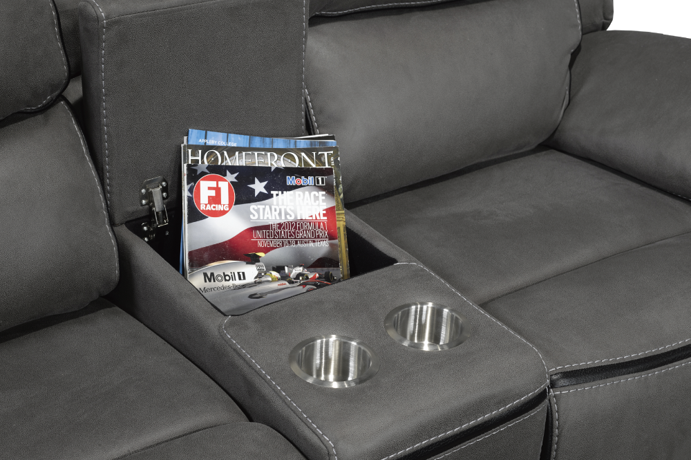 SECTIONAL RECLINER-T-1185-TRAY