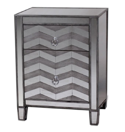 MIRRORED NIGHT TABLE-MDS-40-161