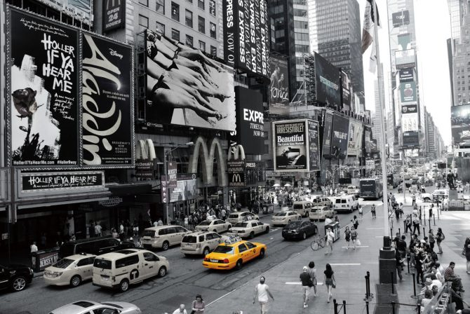 Time Square and Broadway at Manhattan, New York City