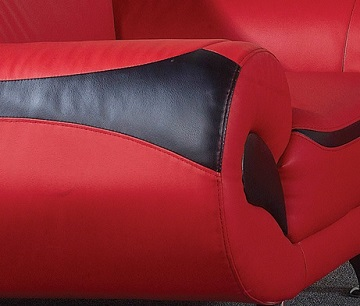Ankur Leather Sofa Set Close View