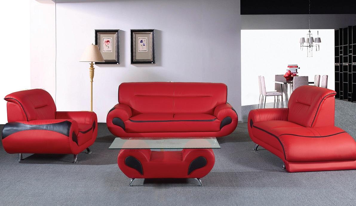 Ankur Leather Sofa Set