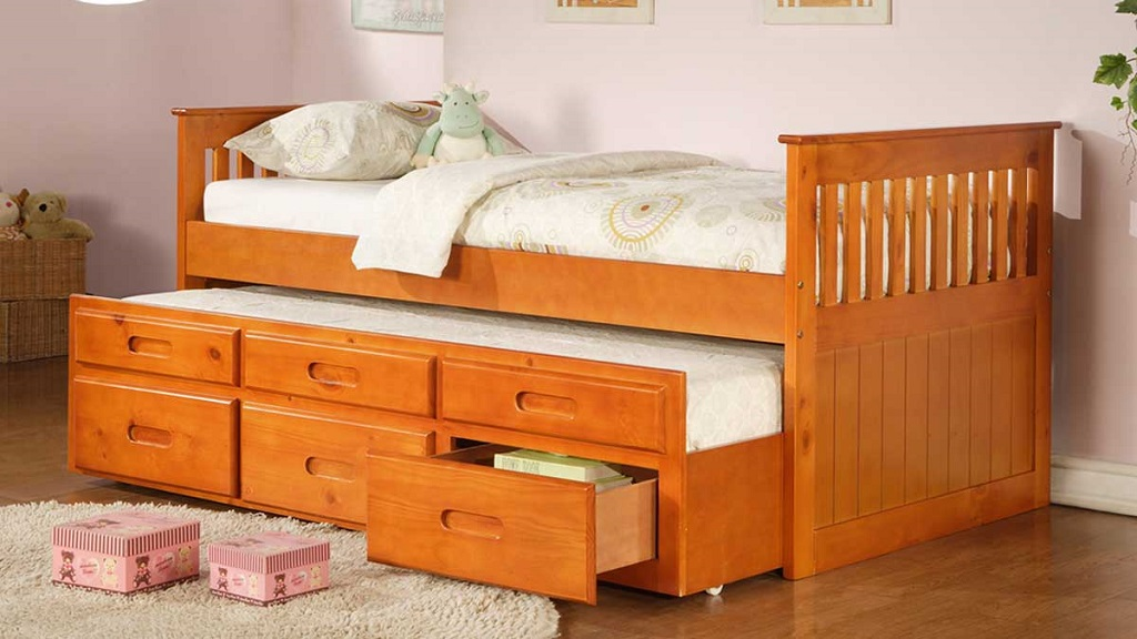 IF314 Oak Captain Bed