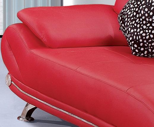 Lindsay Red Sofa Close View