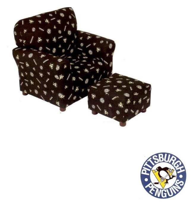 Sta1960 Pittsburgh Penguins Club Chair Furtado Furniture