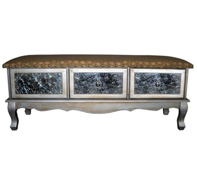 STA-GD13115 Mirrored Bench