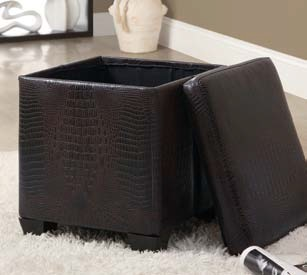 I8976 Storage Ottoman Opened View