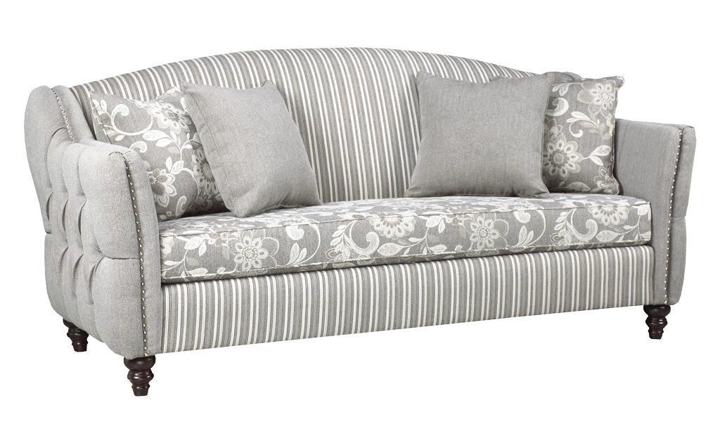 AC4300 Grey Fabric Sofa