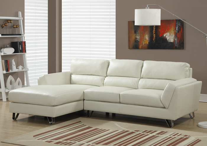 I8210IV Ivory Leather Lounger