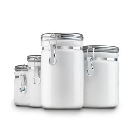 STA-03922MR-W Food Canister 4pcs Set