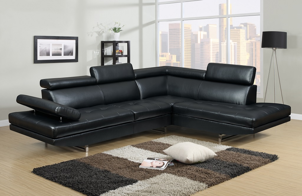 KW-9782 Leather Sectional