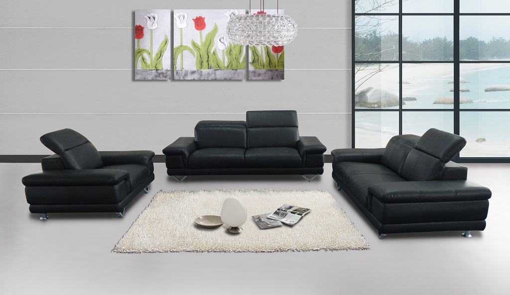 KW-LD-498 Leather Sofa Set