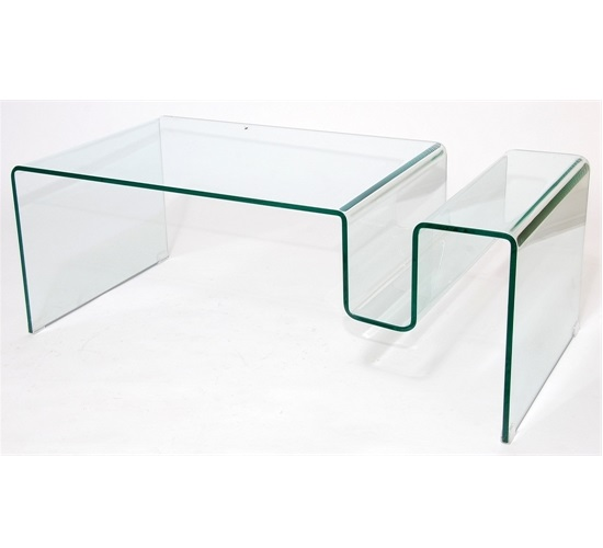 MDS-52-575 Double Shadow Glass Coffee Table