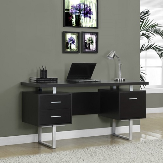 I7080 Computer Desk Black