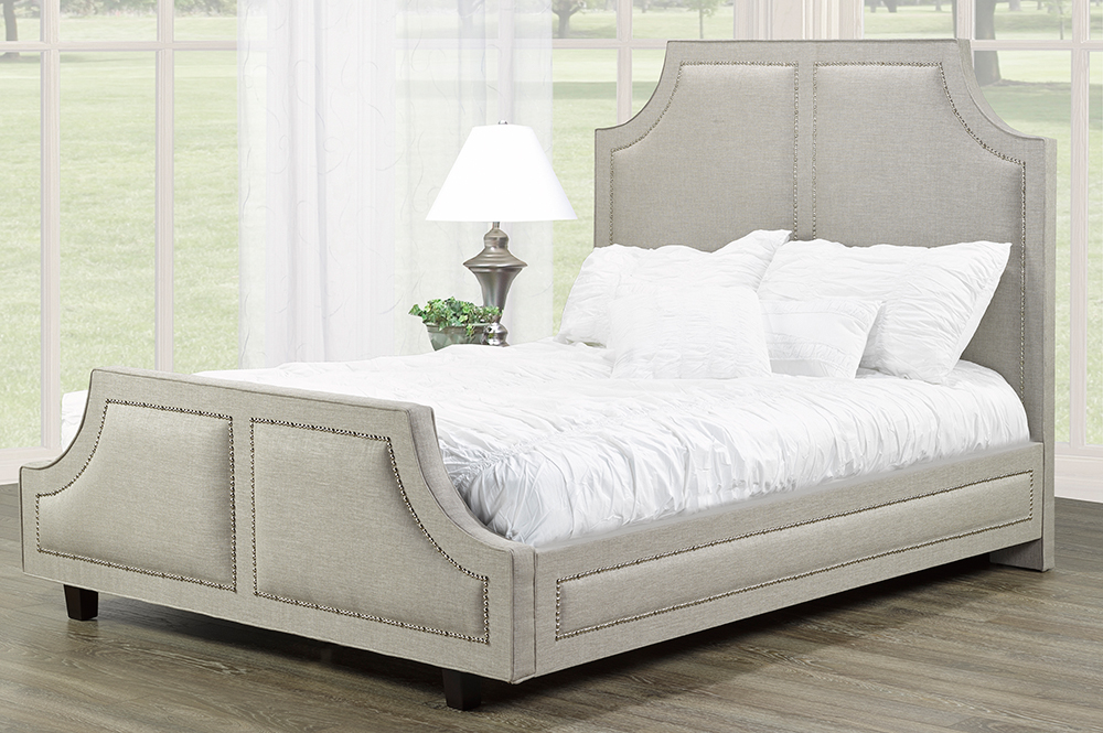 R185 Upholstered Bed Grey