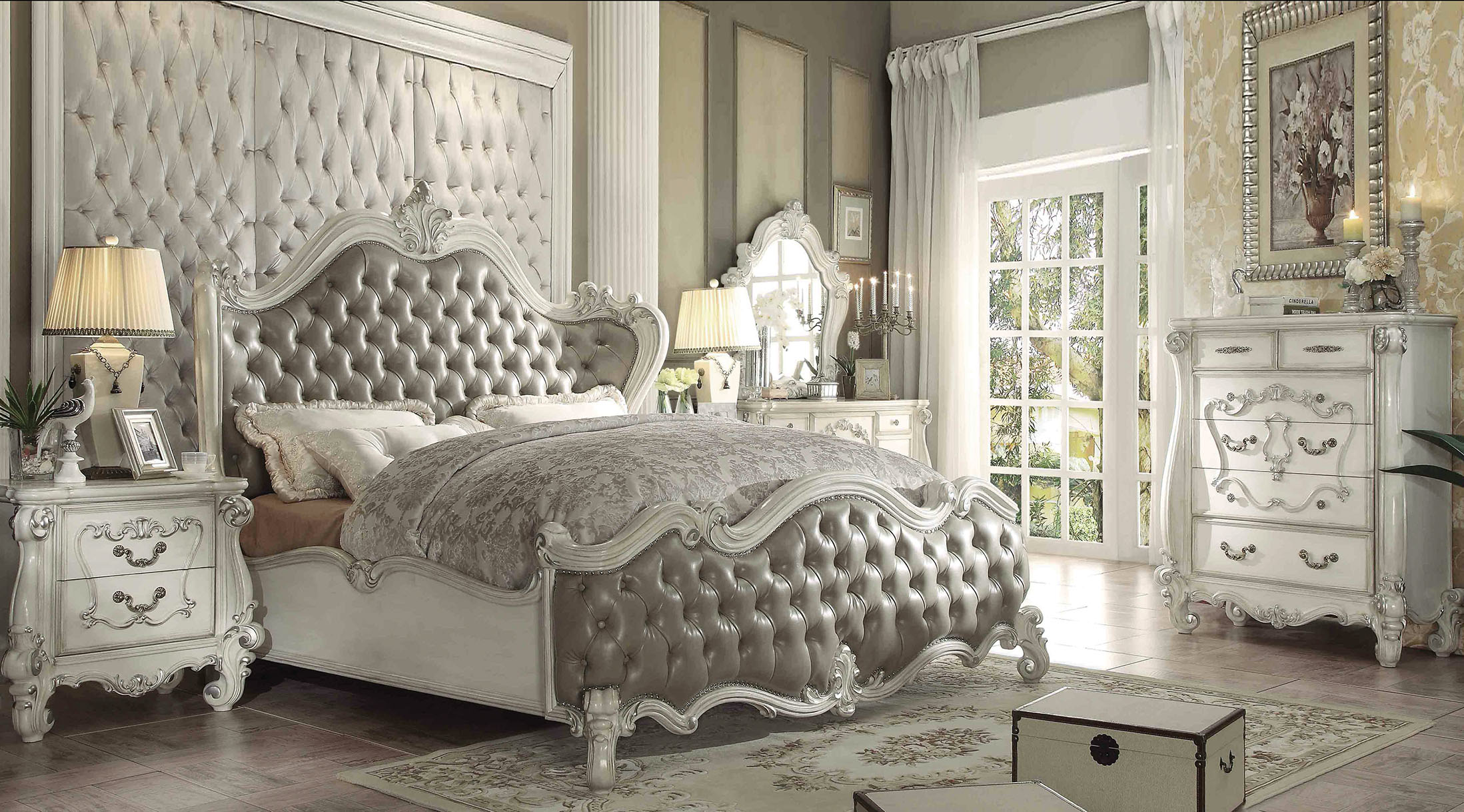 GL2919 Platinum Bedroom Set