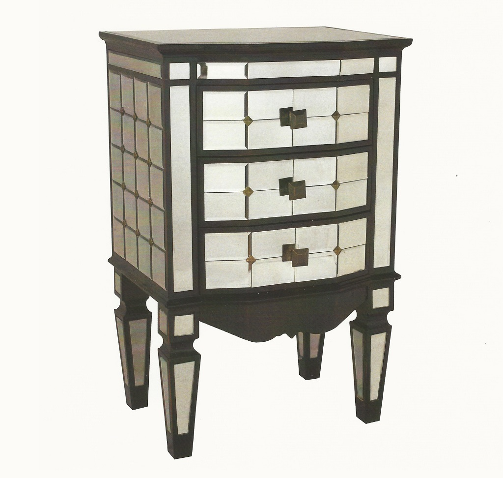 STA-MW37 Mirrored Night Table