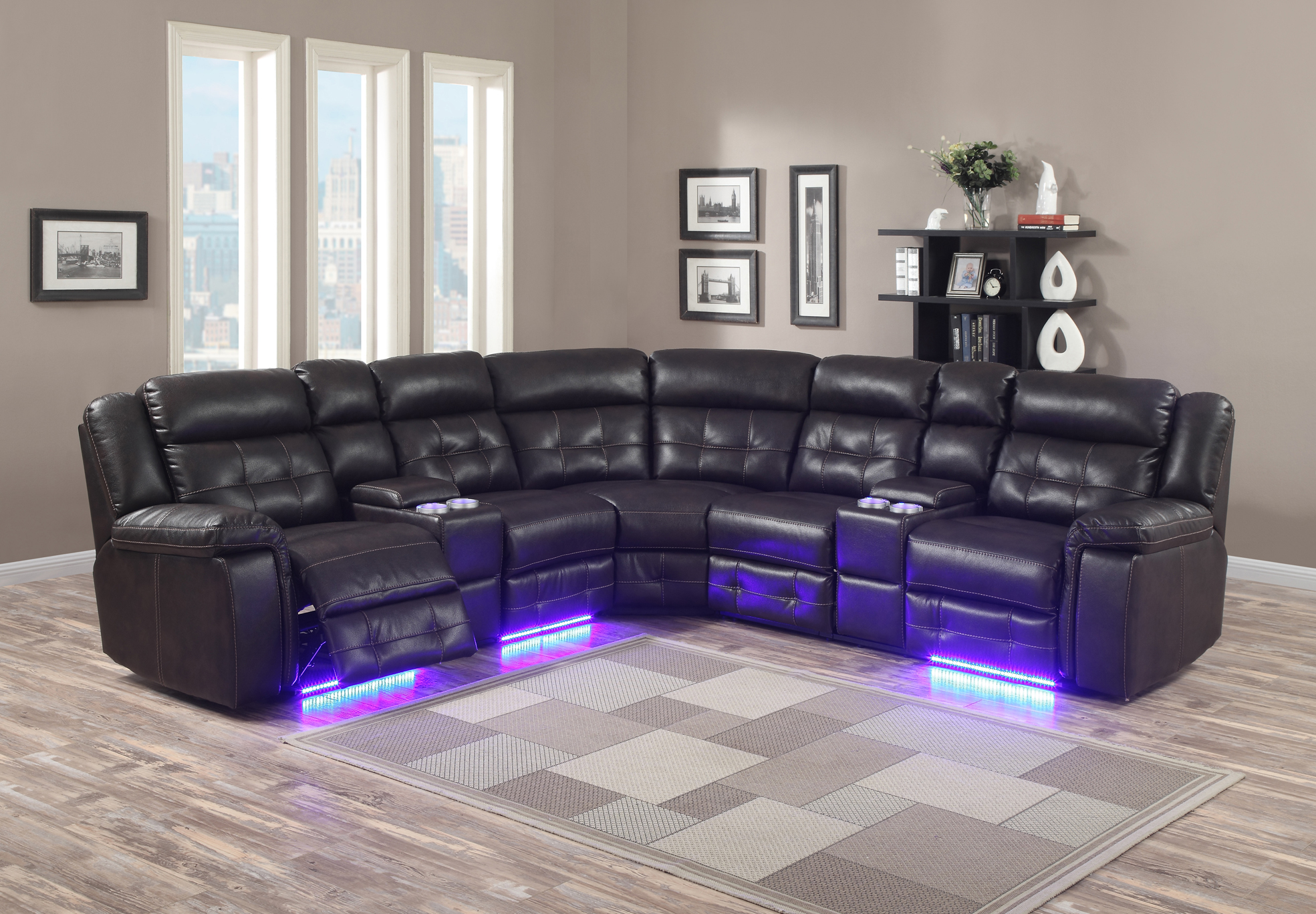 SECTIONAL-GL-6556-POWER-CHOCOLATE