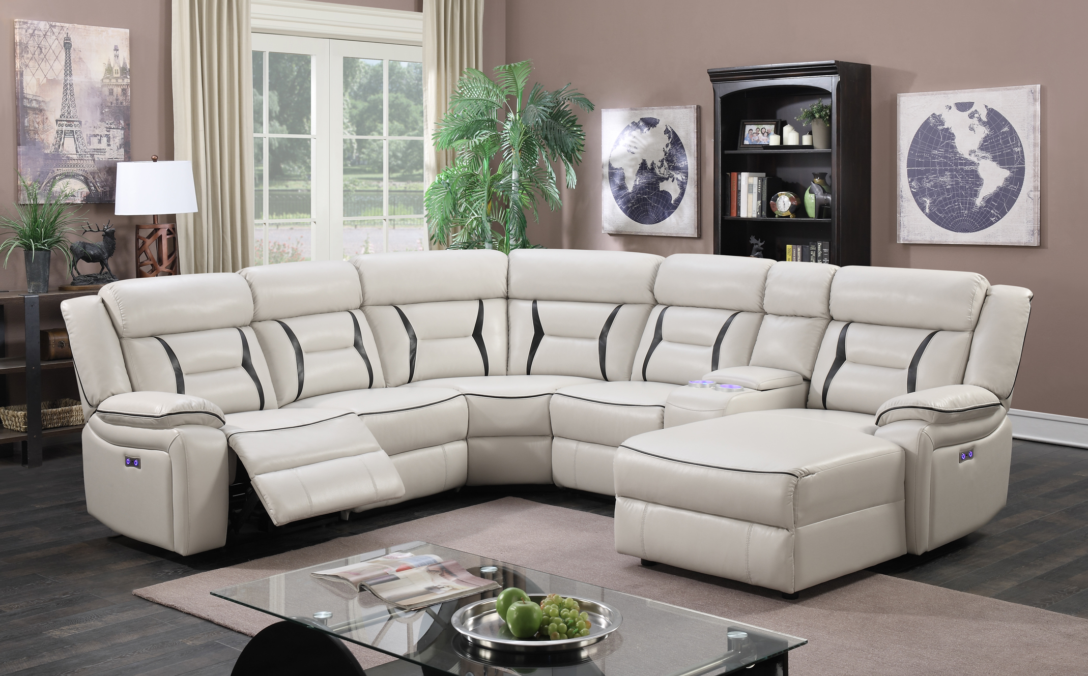 Grace Leather Sectional