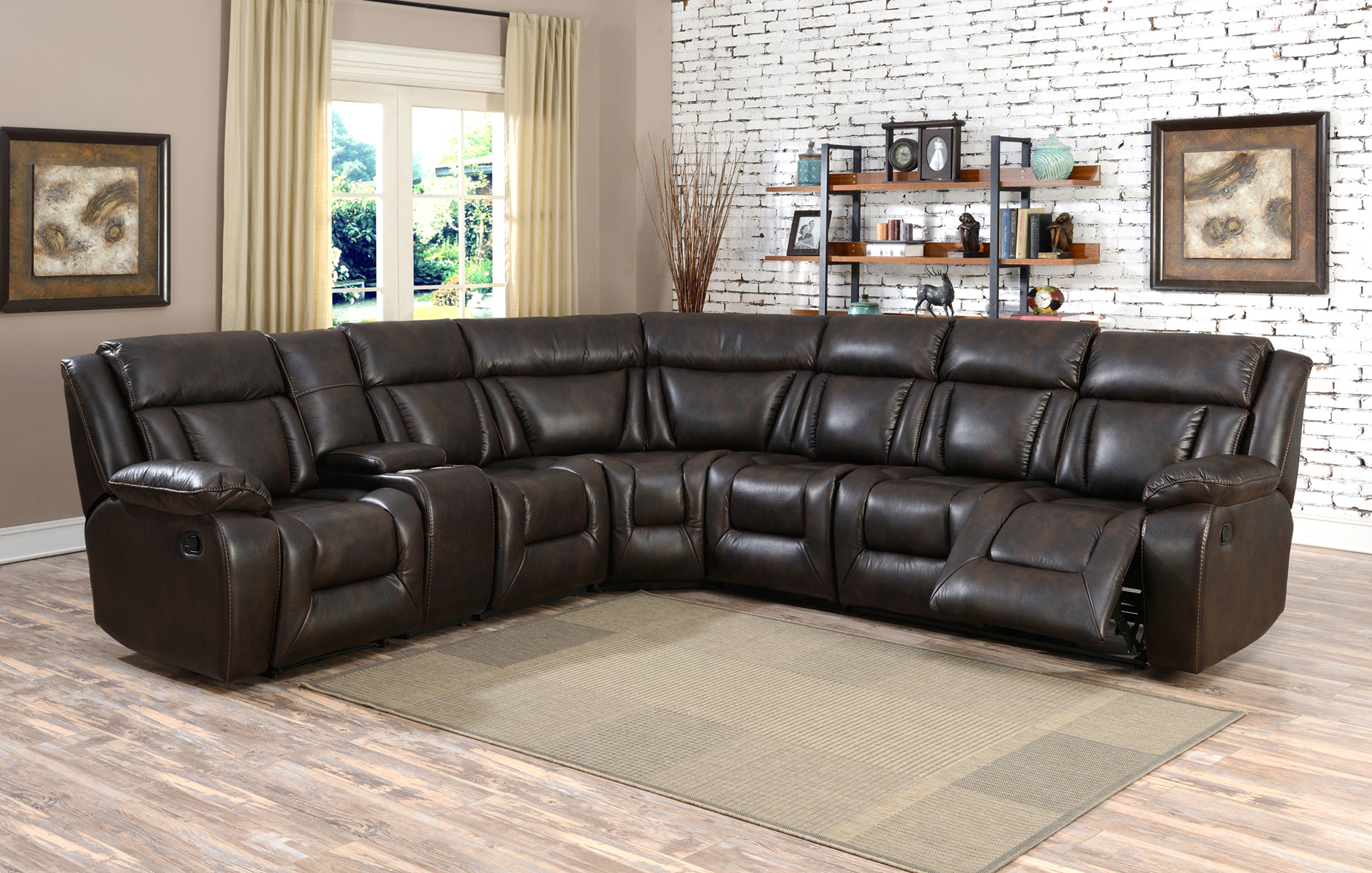 SOFASET-GL 6240 EVERGREEN CHOCOLATE