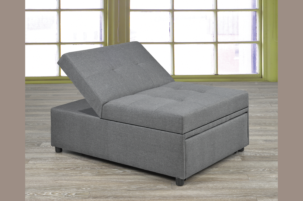 T 1800 Transformable Ottoman Chair Bed Furtado Furniture