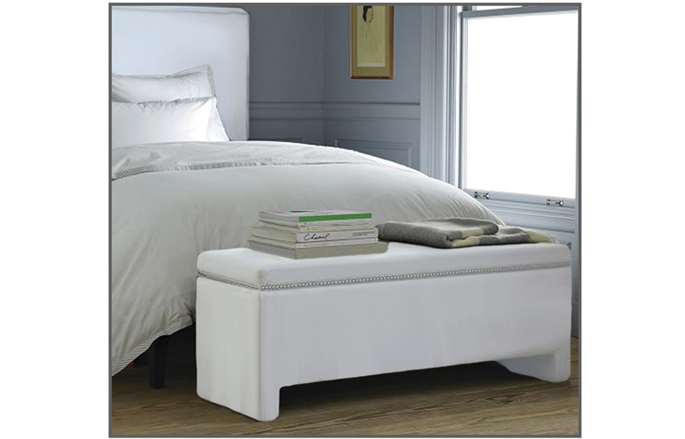 STORAGE BENCH-R-830-835-SUPERWHITE