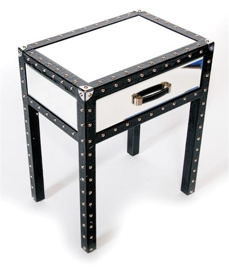 MIRRORED NIGHT TABLE-MDS-40-055