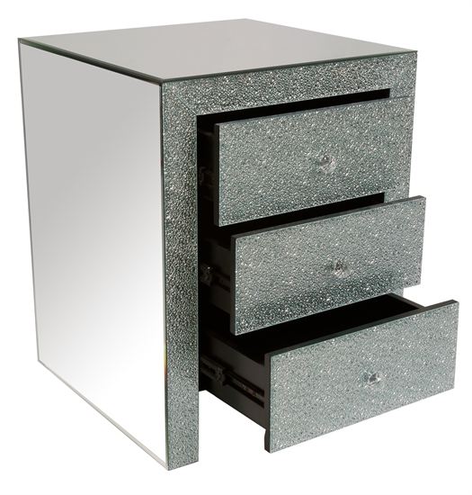 MIRRORED NIGHT TABLE-MDS-40-104-2