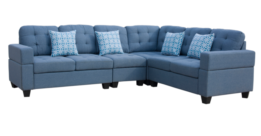 SECTIONAL-GL-EMERSON LIGHT BLUE