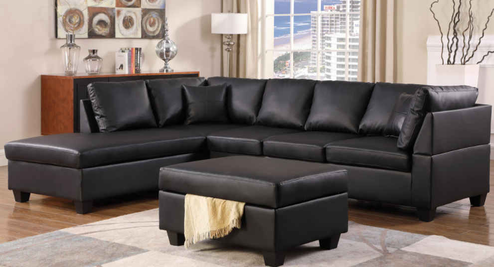 SECTIONAL-GL-MILANO BLACK