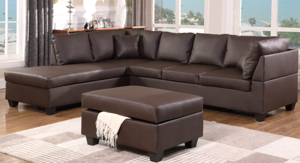 SECTIONAL-GL-MILANO CHOCOLATE